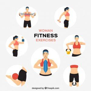 6e16efc4d2cda1f8de85ac7da22a054b--woman-fitness-clipart
